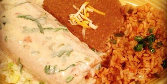 Chicken Chimichanga | Best-Mex Menu | Restaurants Allen, TX | TwoRows Classic Grill