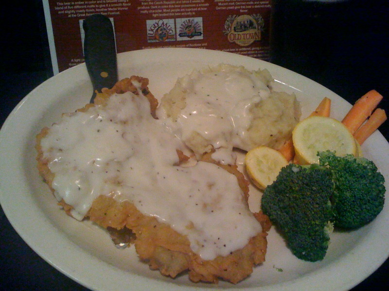 Wednesday's Dinner Deal - $8.99 Chicken Fried Steak & $1 Honey Blonde Beer