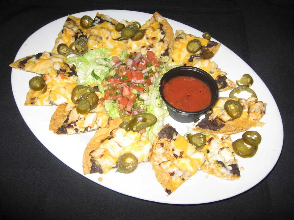 Fajita Chicken Nachos | Appetizers | Restaurants Allen, TX | TwoRows Classic Grill