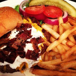Ranch & Honey Pepper Bacon™ Burger | Best Burgers | Restaurants Allen, TX | TwoRows Classic Grill