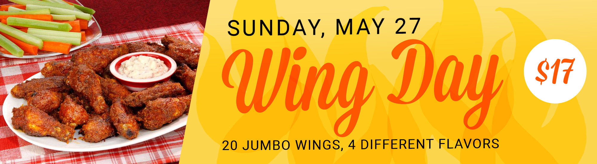 Wing Day Special - Sunday, May 27
