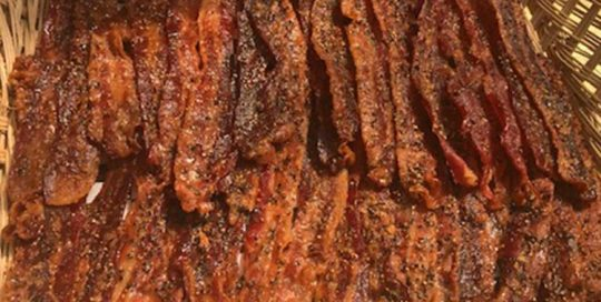 World Famous Honey Pepper Bacon at TwoRows