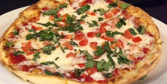 Margherita Pizza   Wood-Fired Brick Oven Pizza   Restaurants Allen, TX   TwoRows Classic Grill
