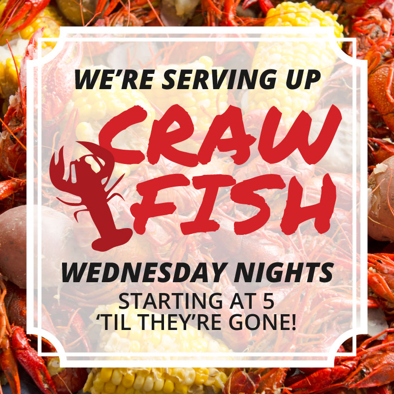 TwoRows - Serving up Crawfish on Wednesdays